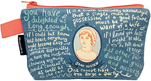 Jane Austen Bag - 9' Zipper Pouch for Pencils, Tools, Cosmetics and More