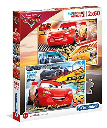 Clementoni Cars The Movie Disney 2 Puzzles 60 Piezas Cars3, Color (07131.9)