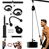 Fitness LAT and Lift Pulley System Gym, Cable Machine for Triceps Pull Down, Arm Strength Training,...