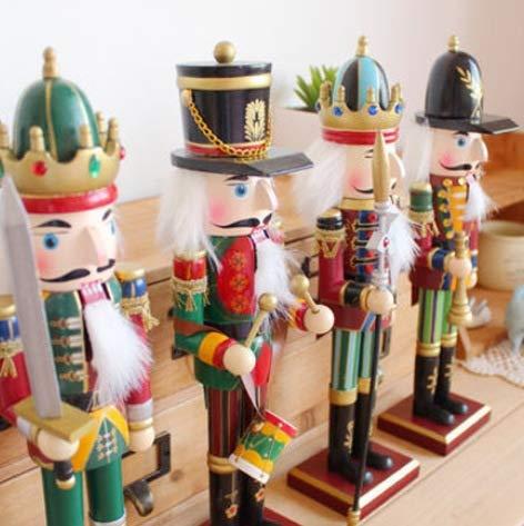 Wegji Amerikaans land massief houten decoratie ornamenten huis schommels heet 30 cm notenkraker poppensoldaat