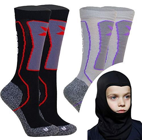 TODO SKM Lot de 2 paires de chaussettes de ski...