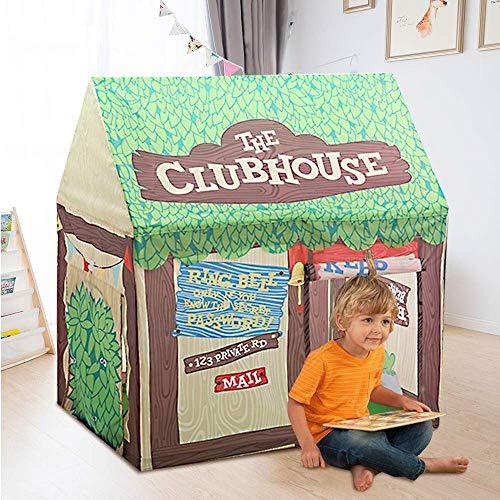 Kids Play Tent, Kinderen indoor en outdoor Playhouse, Children's Birthday Boy Girl Castle huis speel goed met Roll-Up deuren en ramen