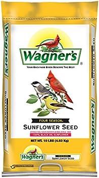 Wagner's 76025 Four Season Oil Sunflower Seed, 10-Pound Bag