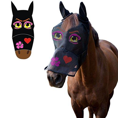 LTG Pro®, Fliegenmaske für Pferde, Fliegenschutz, Fliegennetz, aus Polyester, Ohren-/Augenschutz