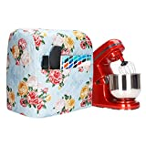 Stand Mixer Covers Compatible with 6-8 Quarts Kitchenaid Mixer, Fits Tilt Head & Bowl Lift Models,Mixer Covers with Flowers Printing and Pocket, Pioneer Woman Kitchen Accessories