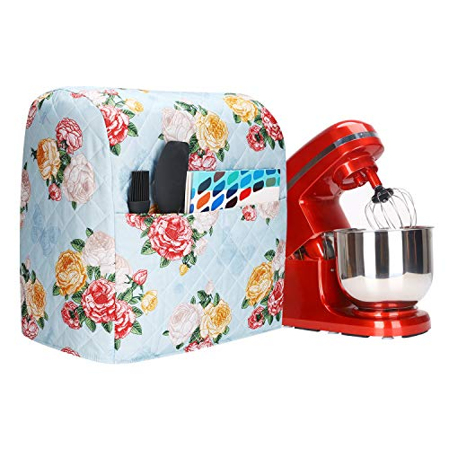 Stand Mixer Covers Compatible with 6-8 Quarts Kitchenaid Mixer Fits Tilt Head Bowl Lift ModelsMixer Covers with Flowers Printing and Pocket Pioneer Woman Kitchen Accessories