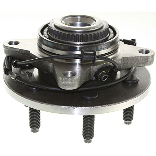 Evan-Fischer Wheel Hub and Bearing compatible with 2005-2008 Ford F-150 Front Left or Right With ABS Sensor and Wheel Studs