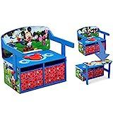 Delta Children Kids Convertible Activity Bench, Disney Mickey Mouse