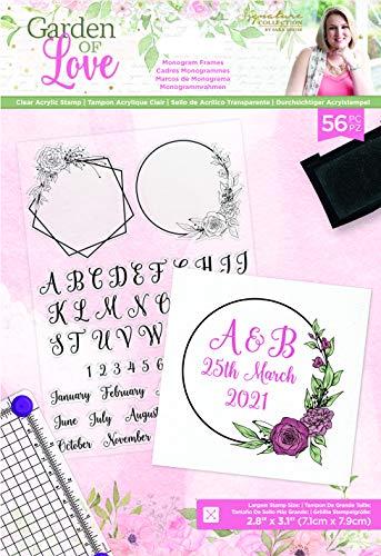 Sara Signature S-GOL-ST-MOFR Garden of Love-Acryl-Stempel-Monogramm-Rahmen, Durchsichtig, A5
