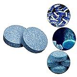 Youngfate 10 Stück Glasreiniger für Windschutzscheibe Auto Reinigung von Tabletten Konzentrat Waschmaschinentabletten Intensivreiniger Solides Reinigungswerkzeug