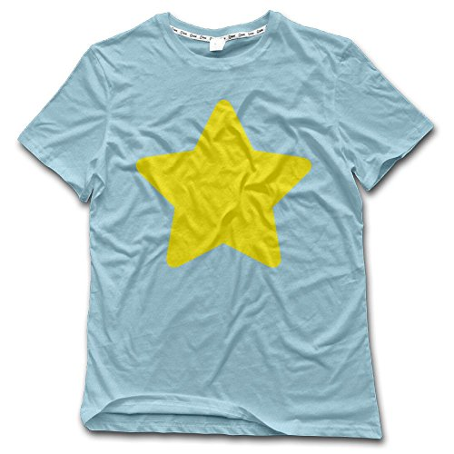 Steven Universe Star Cosplay T Shirts for Men Graphic Dad Summer Pattern Top Cartoon SkyBlue X-Large