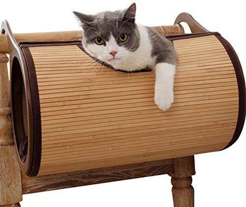 ZXL kat bamboe net hangmat ademend huisdier bed kat hond mat zacht kitten kat huisdier hangmat huis bed huisdier benodigdheden