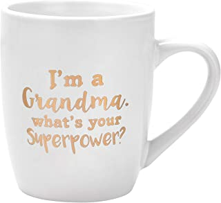 Gifts for Grandma Coffee Mug I'm a Grandma What's Your Superpower Funny Coffee Mug Mothers Day Gifts Birthday Gifts for Gr...