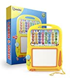 Boxiki kids Learning Tablet + Magnetic Drawing Pad. Toddler Musical Toy w/ Kids
