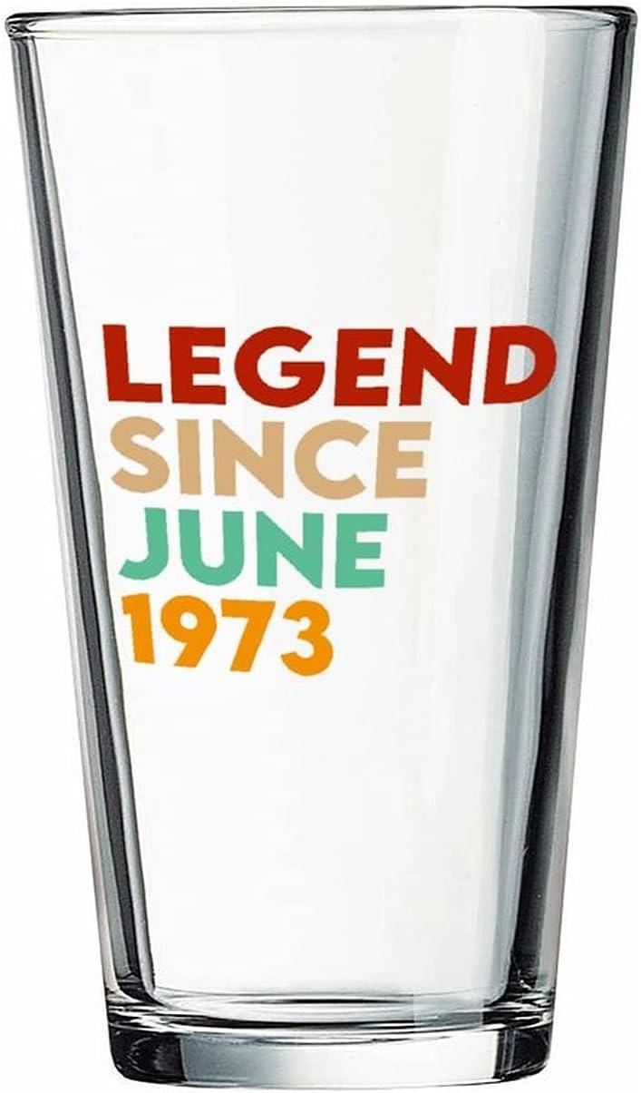 Legend Desde junio de 1973 Vasos de cerveza personalizados, vaso de cerveza de pinta de 16 onzas ideas para Chrismas,Día de Acción de Gracias, papá, mamá, marido, esposa, padre...
