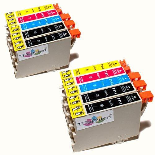 Kombi Pack 10x Standard Epson Tintenpatronen T611 - T614, kompatibel für Epson Stylus DX3800, 3850, 4200, 4250, 4800, 4850