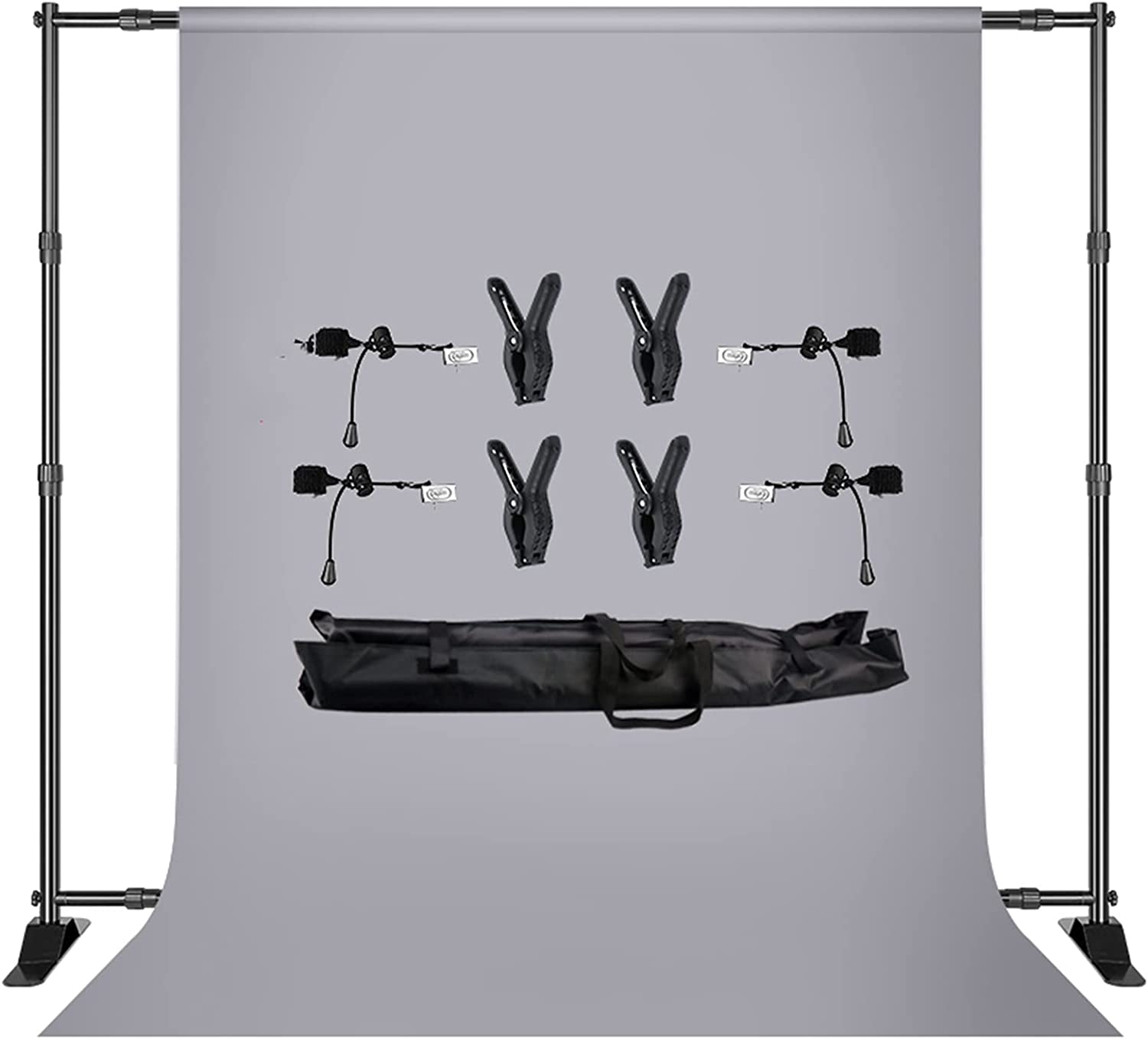 YYFANGYF Photo Video Studio Over item handling ☆ Background 40% OFF Cheap Sale Double- 2.7x3m Kit Stand