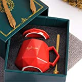 Confezione Regalo Tazza in Ceramica, Tazza da caffè al Latte, Tazza Regalo Rosso Verde Rosa Blu 401-500ml