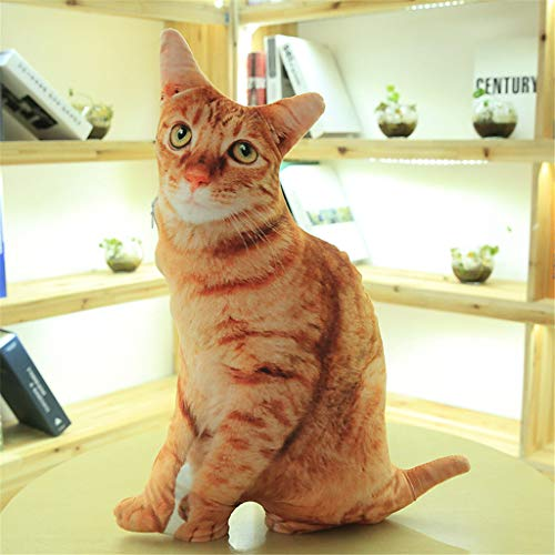 Hunpta @ Weiches Plüschtiere 50cm Katze Simulierter Stofftier Home Dekokissen Plüschtier Junge Mädchen Kuscheltier Puppe Plüsch Spielzeug Geburtstag Weihnachten Geschenk für Kinder