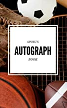 Sports Autograph Book: Signature Book [Get it signed by Athletes] - 50 sheets - Baseball, Basketball, Football, Soccer, Golf, Hockey, Olympics, ANY SPORT (5 x 8 inches)