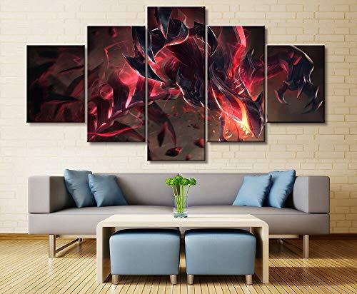 5 Panel Rek Sai spel Canvas afgedrukt schilderij voor woonkamer Wall Art Decor Hd foto kunstwerken Poster