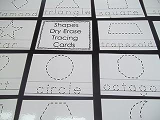 23 laminated Preschool Shapes 4x5 Tracing Cards.
