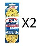 "A & R USA Yellow Waxed Hockey Skate Laces - 120"""