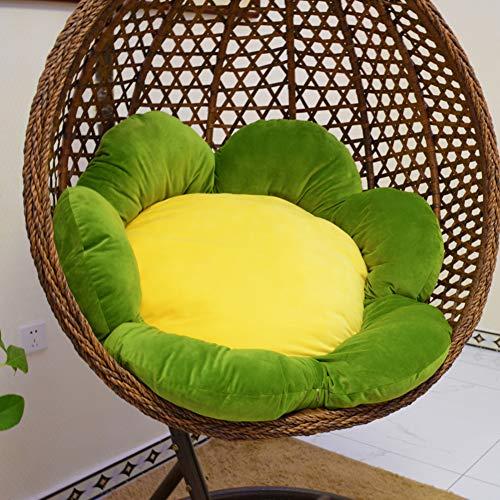 XFXDBT Patio Uovo di Appendere Amaca Sedia Cuscini,Rotondo Fiori Cuscino del Sedile A Battente Giardino Sedia Egg Nest Cushio per Interna All'Aperto-D 120x120cm(47x47inch)