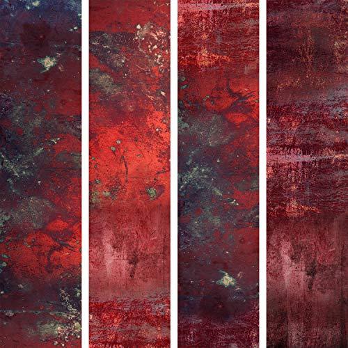 murando - PURO TAPETE - Realistische Tapete ohne Rapport und Versatz 10m Vlies Tapetenrolle Wandtapete modern design Fototapete - Rot Beton f-A-0701-j-a