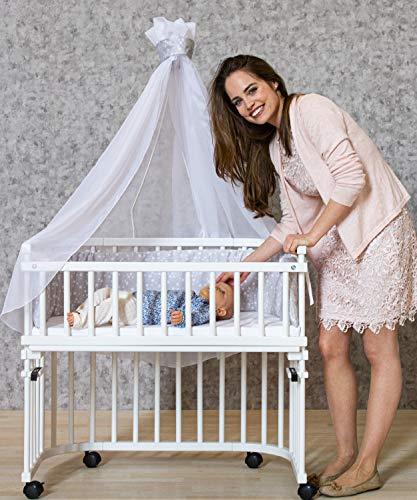 babybay OriginalBeistellbett belüftet   In Weiss   54 x 96.5 x 95 cm