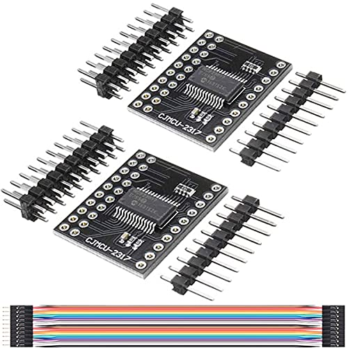 DKARDU 2 pcs MCP23017 Bidirectional 16-Bit I/O Expander I2C IIC Serial Interface Module Expander Pins 10Mhz Serial Interface Module with Dupont Cable