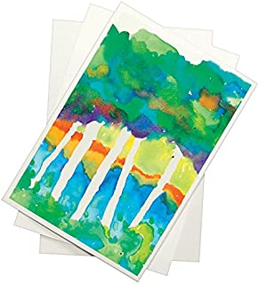 Sax Watercolor Beginner Paper, 90 lbs, 12 x 18 Inches, Natural White, Pack of 100 - 408402