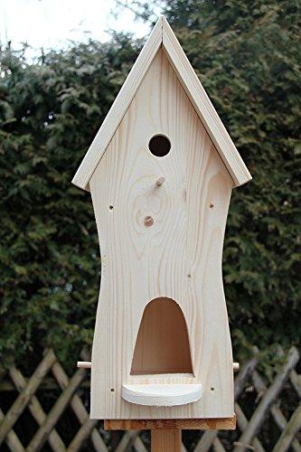 Dekorativer Nistkasten(NB3)-mit Vogelfutterhaus-sauberste Verarbeitung-Vogelhaus Garten Deko