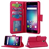 BLU Advance A6 Case, BLU Studio Mega S610P Case, BLU Studio XL 2 S0270UU Case,Luxury Design Magnetic Leather Flip Wallet Pouch Cover Case Card Holder with a Viewing Stand -Pink