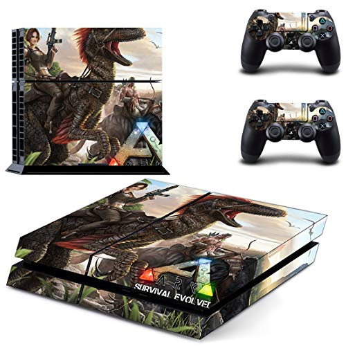 TSWEET Ark: Survival Evolved Style Decal Skin Sticker para Ps4 Playstation 4 Console Film + 2pcs Controladores Cubierta
