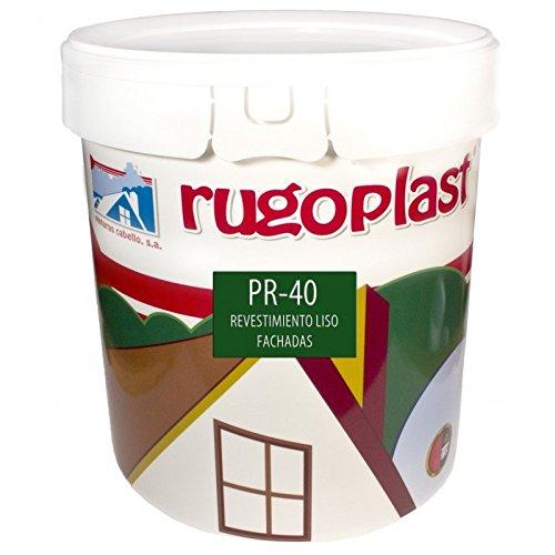 Pintura alta calidad de exteriores blanca revestimiento liso ideal para decorar las paredes exteriores de tu casa PR-40 Blanco (23 Kg) Envío GRATIS 24 h.