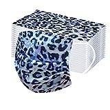 Says~ Unisex Funktionstücher Mode Leopard Druck Mundschutz Atmungsaktiv Baumwolle Einmal Multifunktionstuch