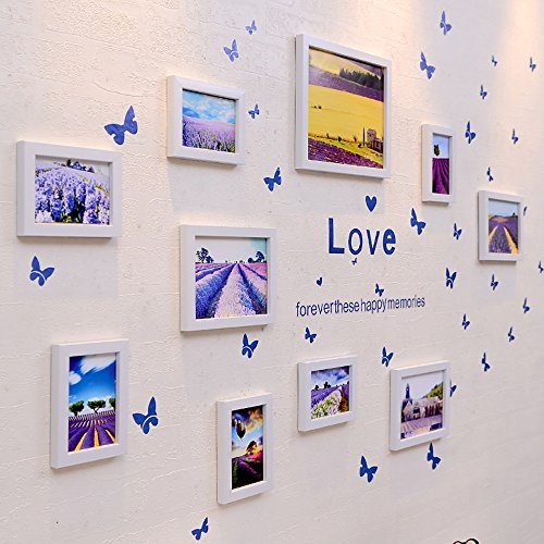XING ZI Fototapete G-Y Fotowand, Einfache Bilderrahmen Wand, Wohnzimmer Kreative Portfolio Schlafzimmer Restaurant Foto Wand Hängen Wand (Farbe : Weiß)