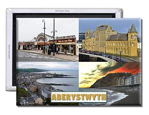 GoPukka - Imán para Nevera de Recuerdo Aberystwyth Gales UK, plástico, Standard:...