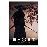 ROTOOY Ghost Of Tsushima Poster, dekoratives Gemälde,