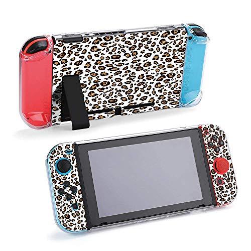 Patrón de piel de leopardo compatible con consola Nintendo Switch y funda...