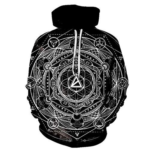 3D Impresa Sudadera con Capucha, Fresco Unisex de Moda Sudadera Impresas en 3D Geométrica Mágicas Gráficos de Formación Personalidad de La Manera Outwear con Grandes Bolsillos Streetwear Sudadera Depo