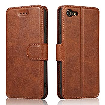QLTYPRI iPhone 6 iPhone 6S Case Premium PU Leather Simple Wallet Case TPU Bumper [Card Slots] [Kickstand] [Magnetic Closure] Shockproof Flip Cover for Apple iPhone 6 iPhone 6S - Brown