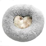 buygoo dog bed comfortable donut cuddler cat and dog bed round calming pup bed anti anxiety pet bed