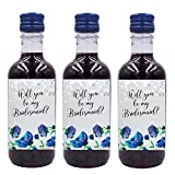 Mini Wine Bottle Label Stickers LoveAtEverySight | For Bridesmaid, Matron and...