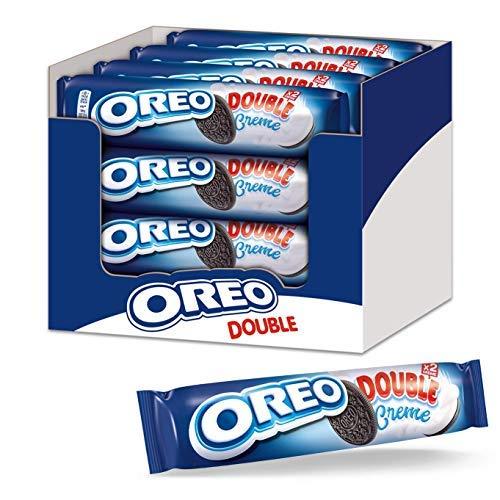 OREO Double 16 x 157g, Knuspriger Kakao Doppelkeks gefüllt mit doppelter veganer Crème-Füllung