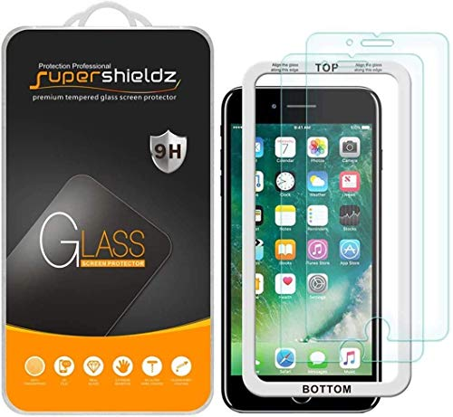 (2 Pack) Supershieldz for Apple iPhone 6S and iPhone 6 (4.7 inch) Tempered Glass Screen Protector with (Easy Installation Tray) Anti Scratch, Bubble Free