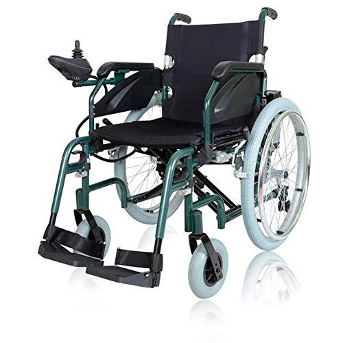JF-XUAN Silla médica de rehabilitación, sillas de ruedas, silla de ruedas eléctrica, inteligente plegable eléctrica Ligera artículo lleva sillas de ruedas eléctricas, ancianos y discapacitados con sil