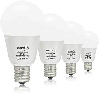 BRTLX LED電球 E17口金 45W形相当 小型電球5W 4000K 450lm 超高輝度 広配光タイプ 省エネ90% 4個パック