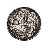 Yuanan 1921 Estados Unidos Hobo Moneda Conmemorativa Hombre Y...